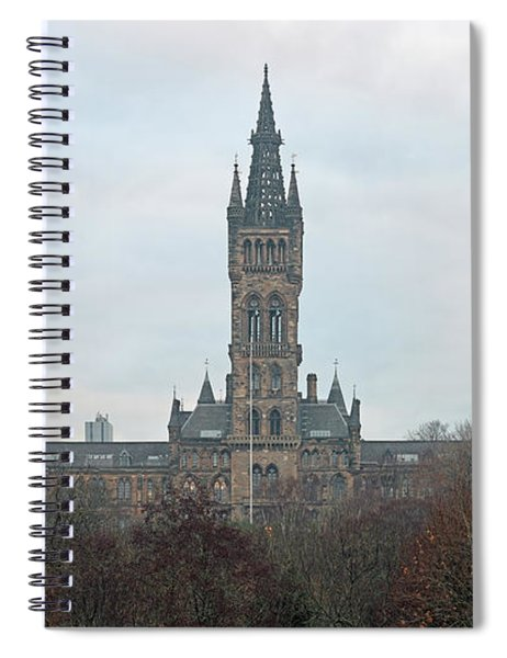 University Of Glasgow At Sunrise - Panorama Spiral Notebook
