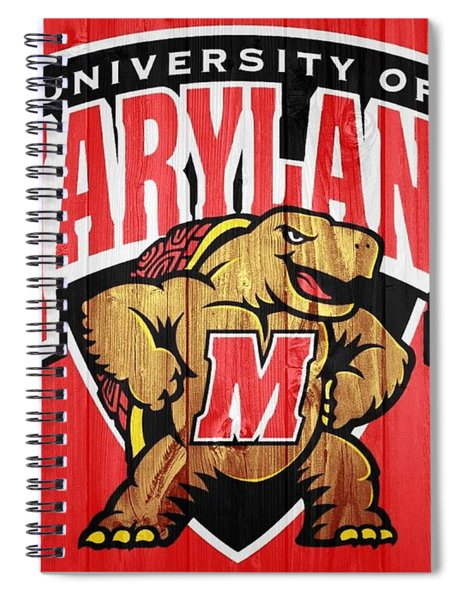 University Of Maryland Barn Door Spiral Notebook
