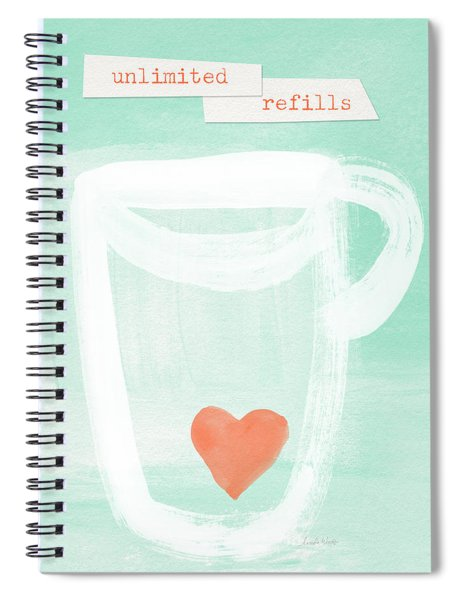 Unlimited Refills- Art By Linda Woods Spiral Notebook