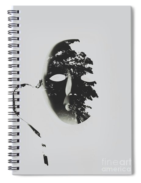 Unmasking In Silence Spiral Notebook