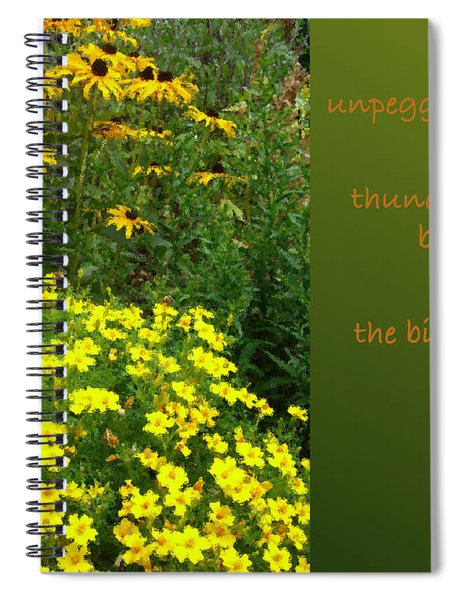 Unpegging Wash Haiga Spiral Notebook