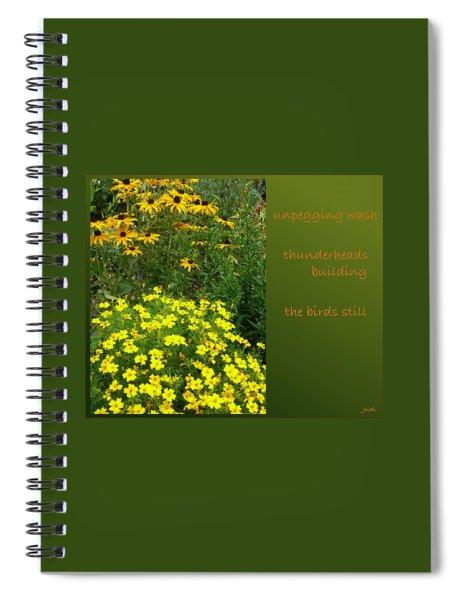 Unpegging Wash Haiga Spiral Notebook