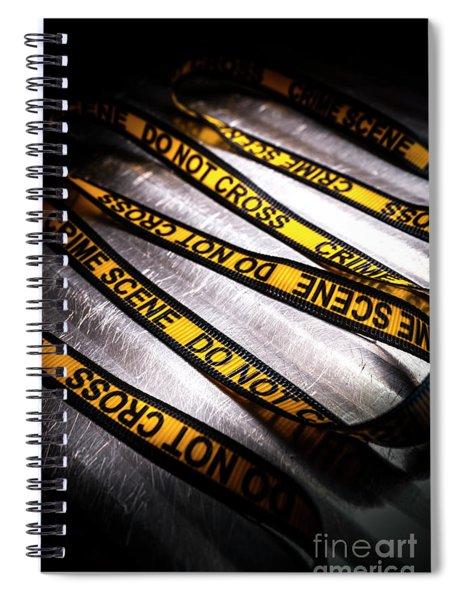 Unravelling Crime Investigation Spiral Notebook