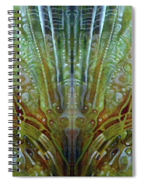 Untitled Abstract Colors 2 - July 2018 - Digital Mirrored Spiral Notebook