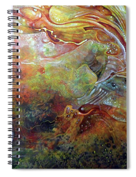 Untitled Abstract Colors 2 - July 2018 Spiral Notebook