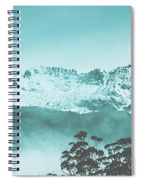 Untouched Winter Peaks Spiral Notebook