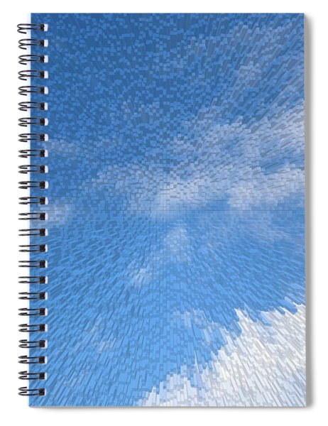 Up In The Clouds Extruded Cloudy Sky  Spiral Notebook