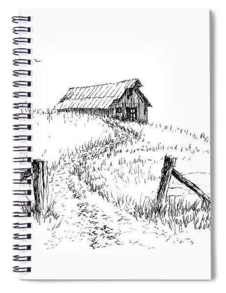 Up The Hill To The Old Barn Spiral Notebook