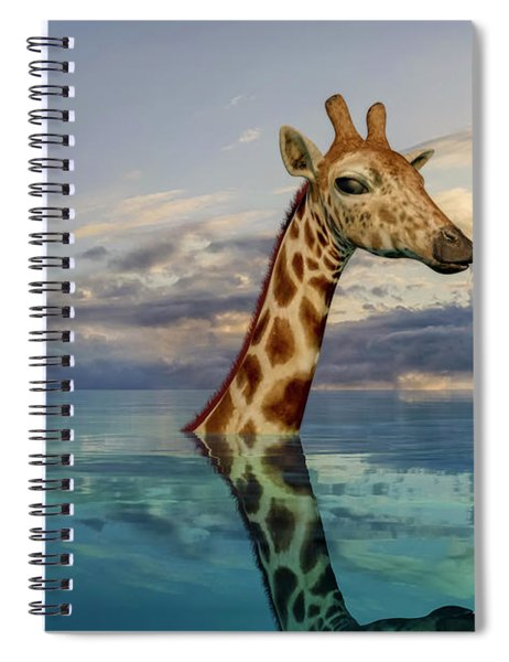 Up To My Neck Spiral Notebook