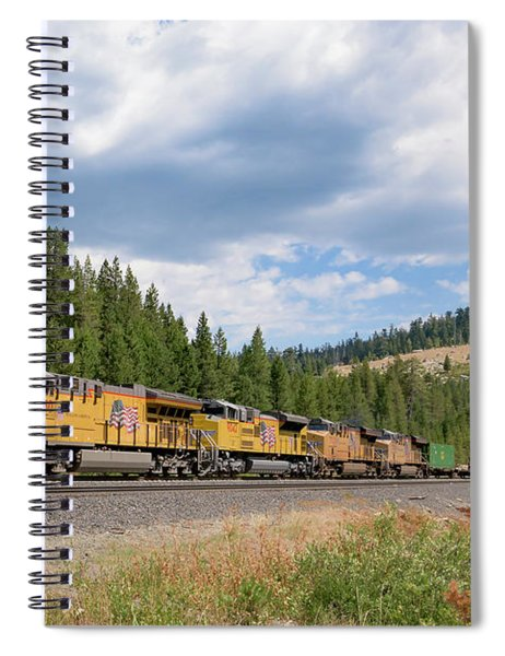 Spiral Notebook featuring the photograph Up2650 Westbound From Donner Pass by Jim Thompson