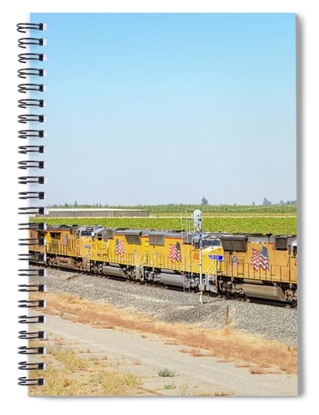 Spiral Notebook featuring the photograph Up4912 by Jim Thompson