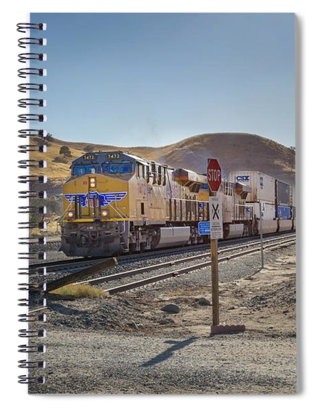 Spiral Notebook featuring the photograph Up7472 by Jim Thompson