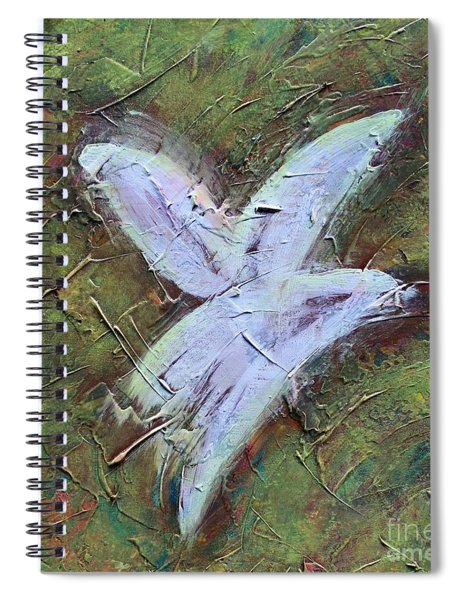 Upon Angels Wings Spiral Notebook