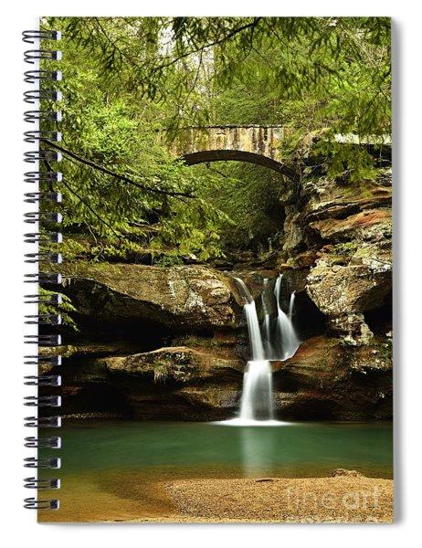 Upper Falls, Hocking Hills State Park Spiral Notebook