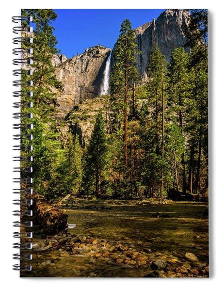 Upper Yosemite Falls From Yosemite Creek Spiral Notebook