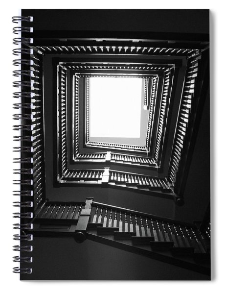 Upstairs- Black And White Photography By Linda Woods Spiral Notebook