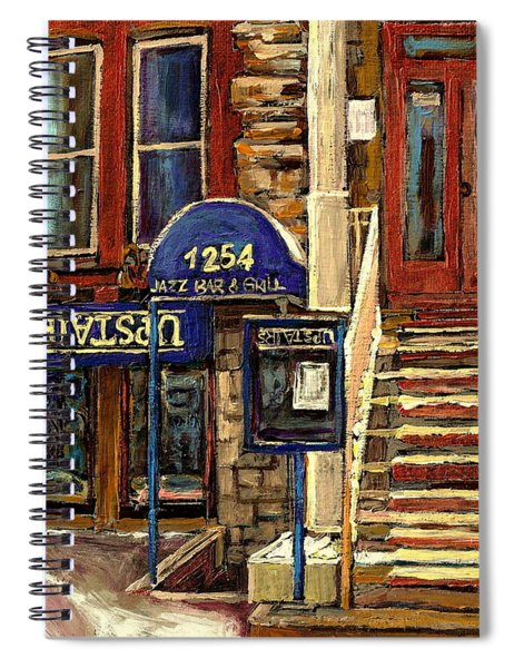 Upstairs Jazz Bar And Grill Montreal Spiral Notebook