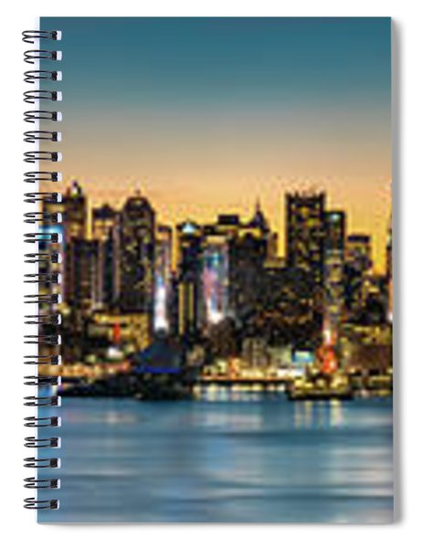 Uptown And Midtown At Sunrise Spiral Notebook