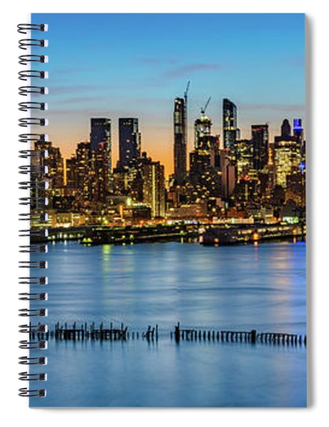 Uptown Skyline At Sunrise Spiral Notebook