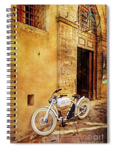 Urban Bikery Bicycle  Spiral Notebook