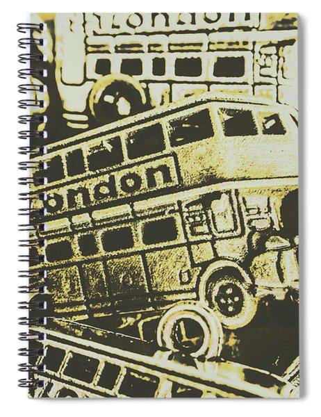 Urban Bus Mural Spiral Notebook