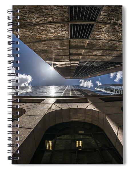 Urban Canyon Sunburst Spiral Notebook