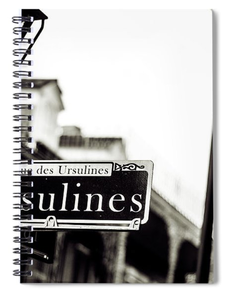 Ursulines In Monotone, New Orleans, Louisiana Spiral Notebook