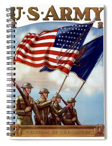 Us Army -- Guardian Of The Colors Spiral Notebook