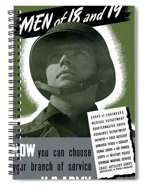Vintage Us Army Recruiting Poster Spiral Notebook