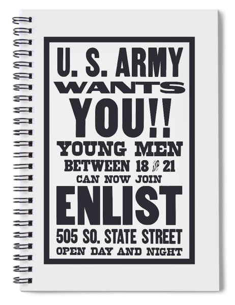 Us Army Wants You - Ww1 Spiral Notebook