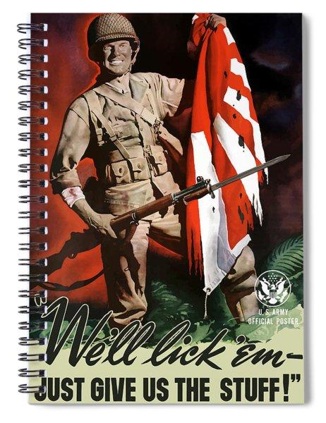 Us Army -- World War Two Propaganda Spiral Notebook
