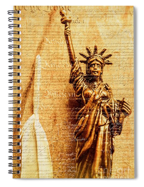 Us Constitution Spiral Notebook