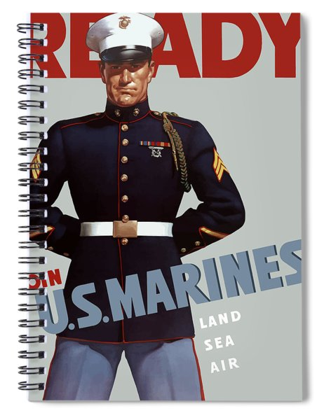 Us Marines - Ready Spiral Notebook