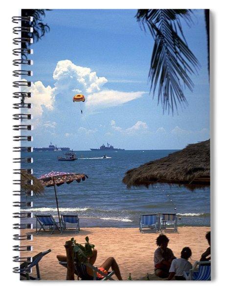 Us Navy Off Pattaya Spiral Notebook