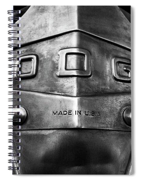 U.s.a. Steel - Vintage Dodge Truck Emblem Spiral Notebook