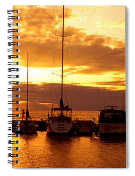 Usa, Wisconsin, Door County, Egg Harbor Spiral Notebook