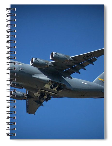Usaf Lockheed C 5 Galaxy Too Airlifter Airplane Art Spiral Notebook