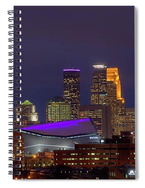 Usbank Stadium Dressed In Purple Spiral Notebook