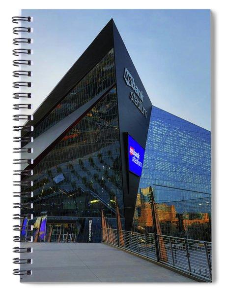 Usbank Stadium The Approach Spiral Notebook