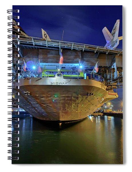 Uss Midway Aircraft Carrier  Spiral Notebook