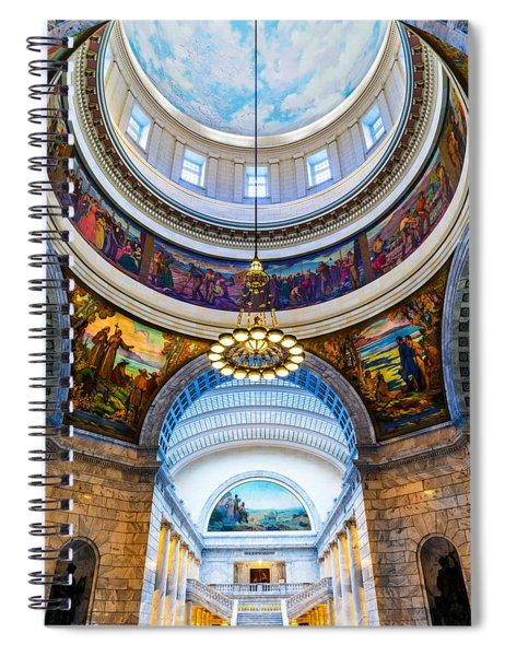 Utah State Capitol Rotunda #2 Spiral Notebook