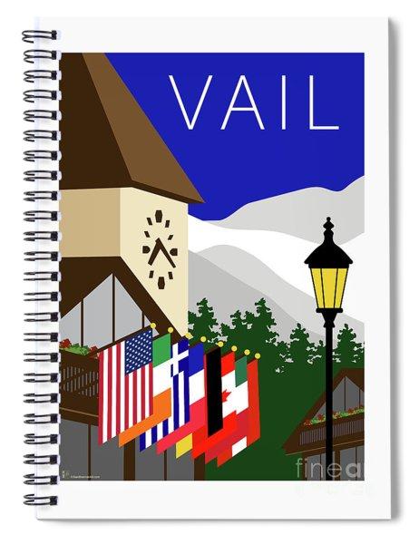 Vail Blue Spiral Notebook