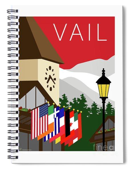 Vail Red Spiral Notebook