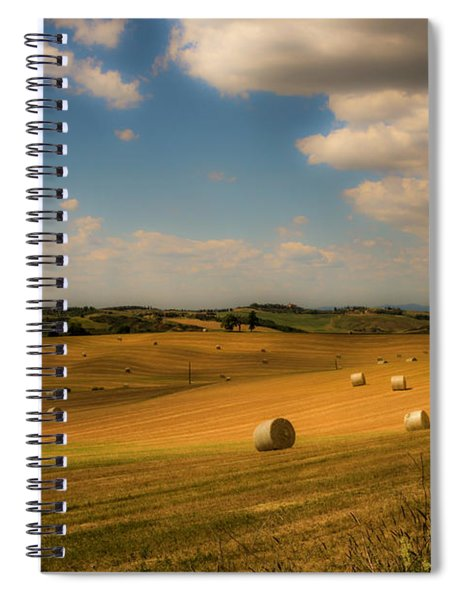 Val D'orcia Field With Hay Balls Spiral Notebook