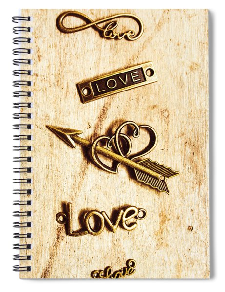Valentine Pendants Spiral Notebook