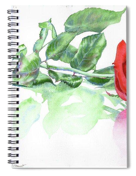 Valentine Rose Spiral Notebook