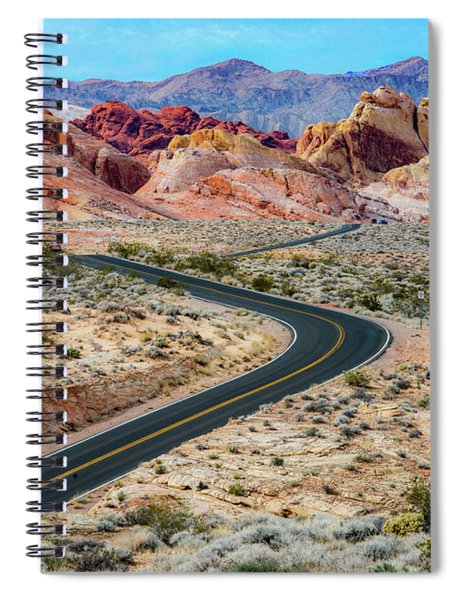 Road Through The Valley Of Fire Spiral Notebook