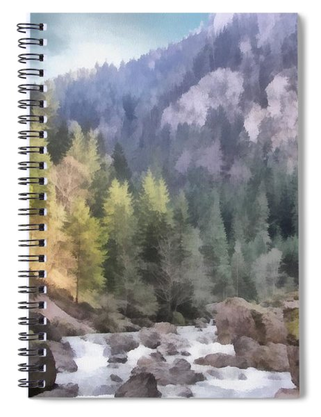 Valley Of Light And Shadow Spiral Notebook