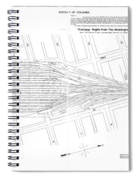 Valuation Map Washington Union Station Spiral Notebook