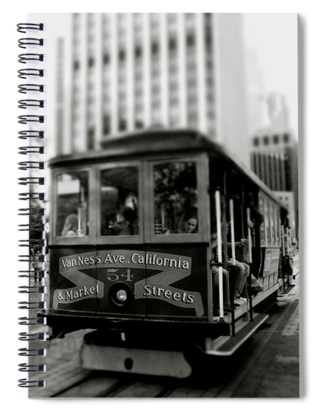 Van Ness And Market Cable Car- By Linda Woods Spiral Notebook
